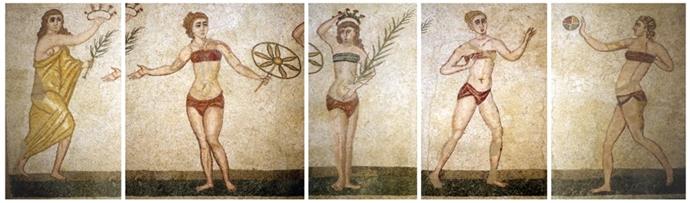 villa romana del casale bikini girls