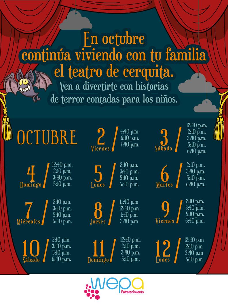 Calendario teatro OCT