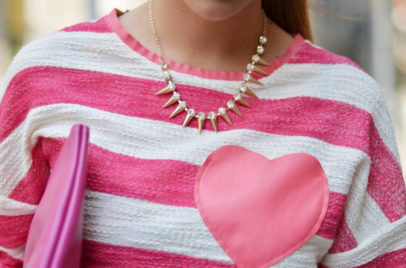 maglia a righe gonna bianca fashion blogger outfit 2013 08