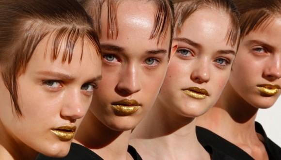 Oro: la tendencia de maquillaje del momento