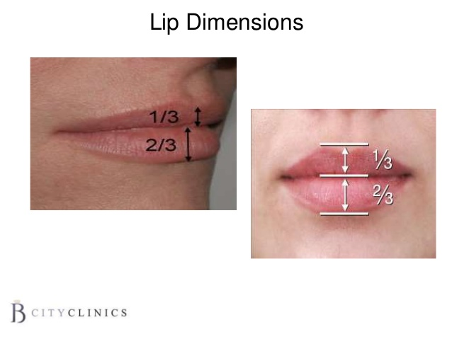 Foto de labios con dimensiones perfectas