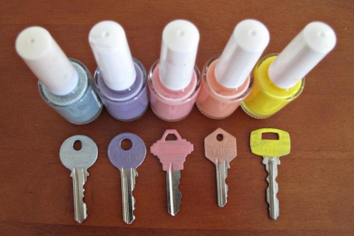 Marcar tus llaves y otros objetos repetidos
