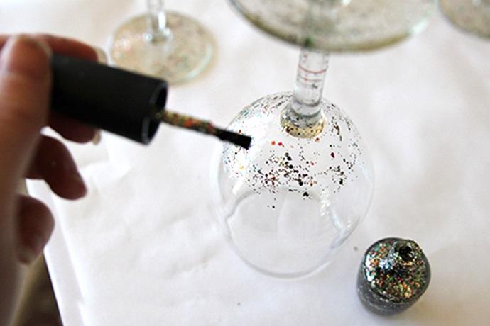 Decorar objetos de vidrio