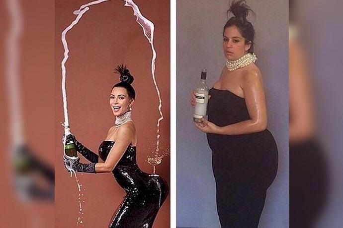 Expectativa y realidad del vestido sintético de Kim Kardashian