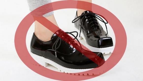 El peligro de usar zapatos cuadrados