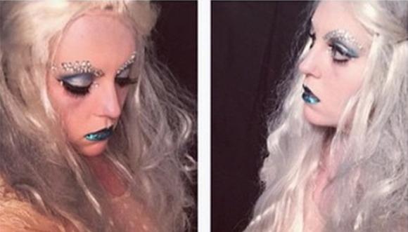 Maquillaje que no asusta de la reina del terror