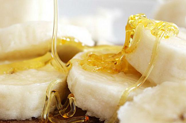 Foto de banano y miel