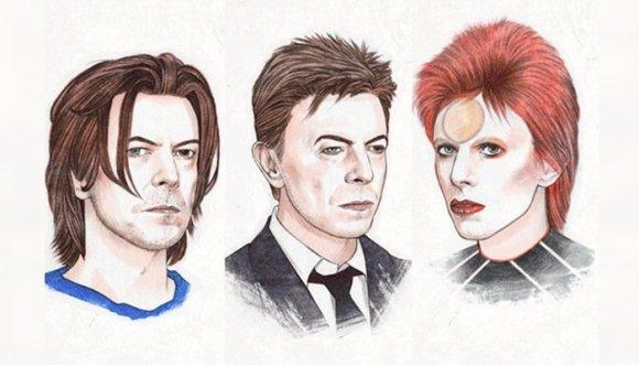 50 años de peinados de David Bowie