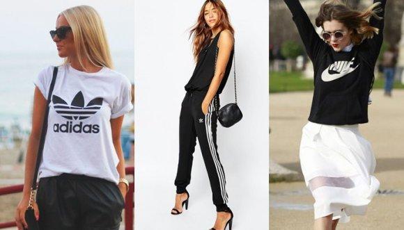 ¿Cómo usar prendas con logos deportivos y no verte en sudadera?