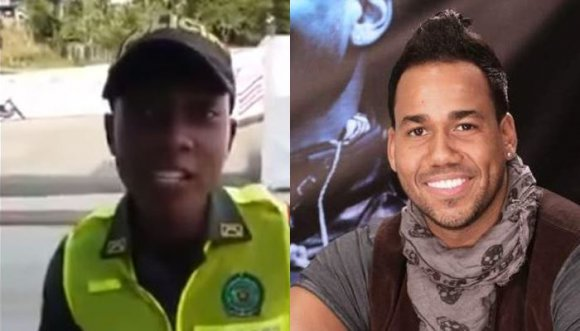 Policía se atreve a imitar a Romeo Santos