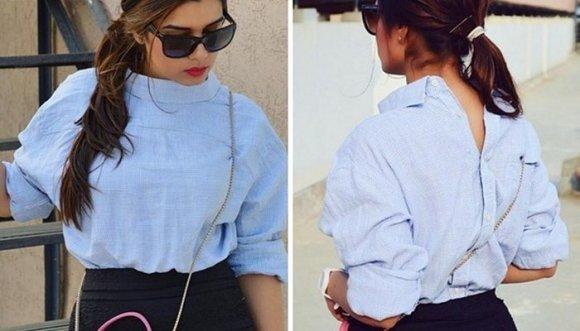 Otra loca tendencia: ponerse la camisa al revés