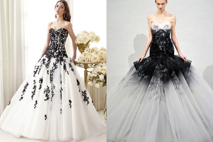 Vestidos de novia con negro