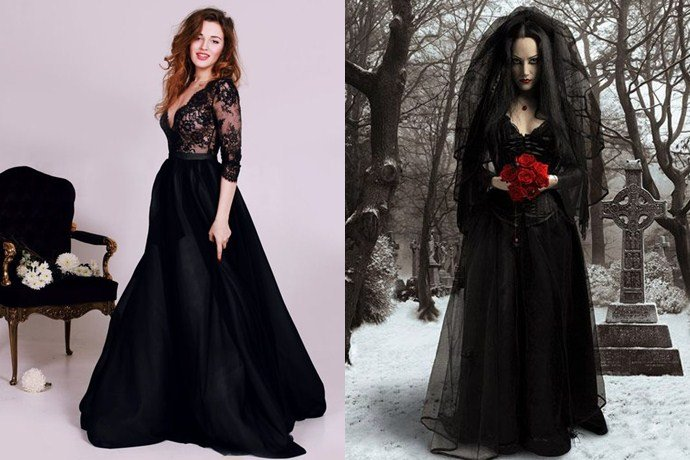 Ahora El Vestido De Novia Es Negro Vibra