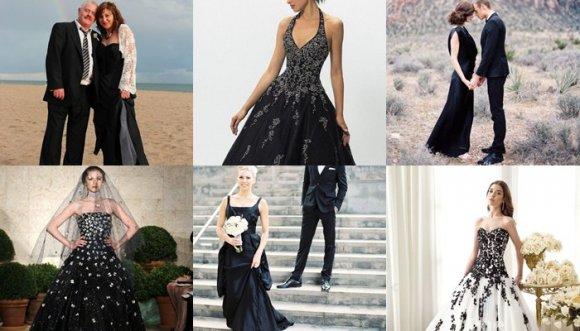 Ahora el vestido de novia es... ¡Negro!