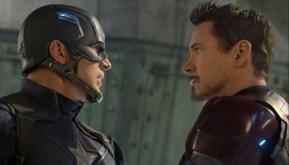 Mira cómo Robert Downey Jr. (Iron man) le rompió la cara a Capitán América