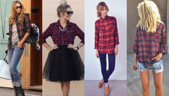 11 pintas muy femeninas con camisa leñadora
