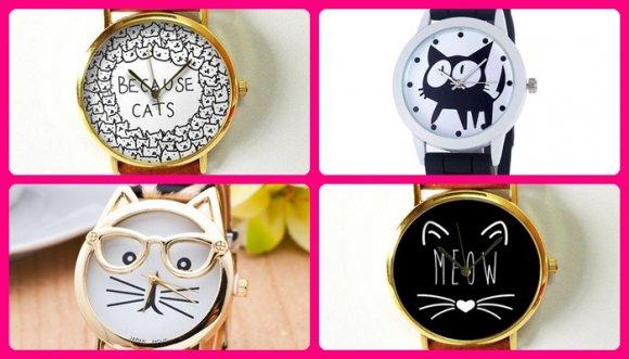 Relojes que te harán enamorarte de los gatos