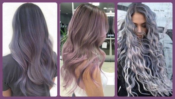 Lila ahumado: el color de pelo que causa furor en redes