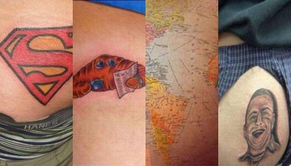 Top 10 más 3 extras de peores tatuajes en las nalgas
