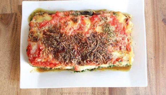 Prepara una deliciosa lasaña de vegetales baja en grasa