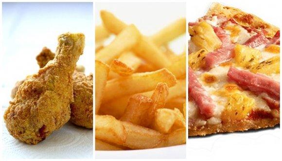 ¿Cuántas calorías tiene la comida chatarra?