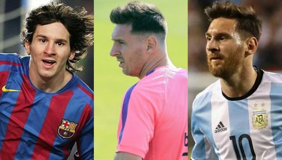 Messi ingresó al club de los peli-pintados (Fotos)