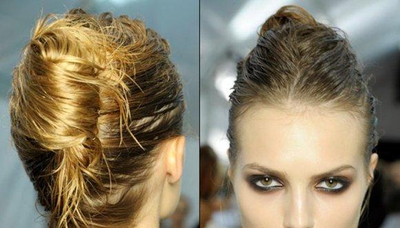 Peinados para pelo mojado en un 2 por 3