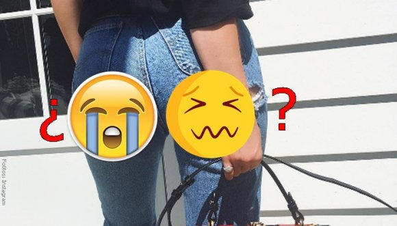 ¿Te pondrías jeans con enormes agujeros en la retaguardia?