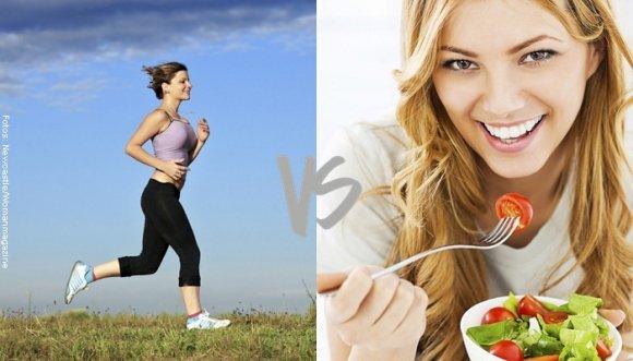 ¿Dieta o ejercicio? ¿Cuál adelgaza más?