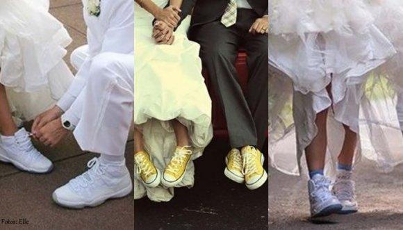 La tendencia es casarse en zapatillas, ¿lo harías?