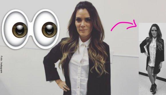 Kany García impone la moda de usar camisa como vestido