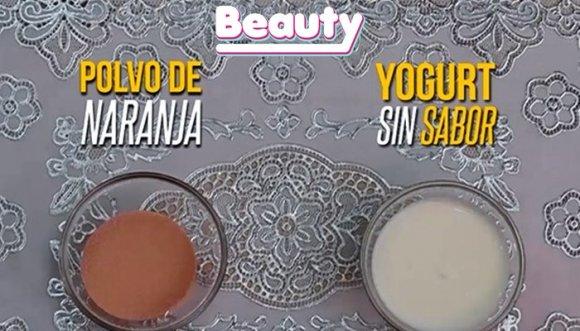 Mascarilla de naranja y yogurt para manchas