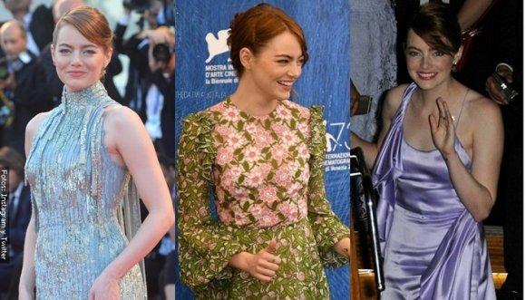 Emma Stone luce espectacular en Venecia