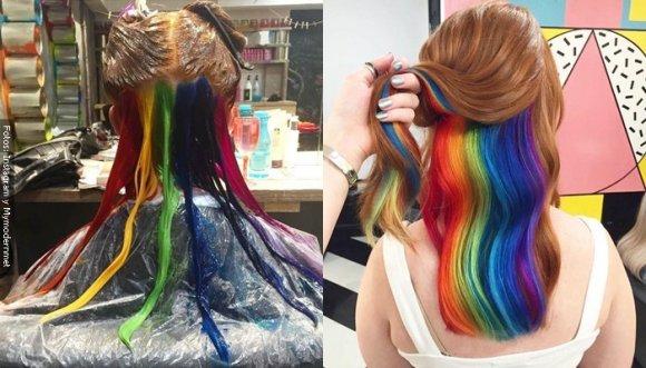 Pelo de colores resurgió, ¡y es tendencia en redes!