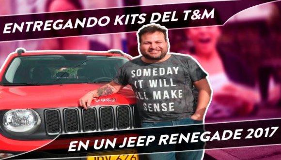 Toño se montó en un Jeep y regaló muchos Kits T&M