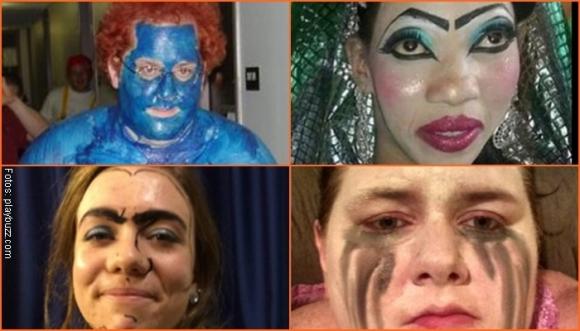 Peores maquillajes de Halloween... ¡Dan pena ajena!