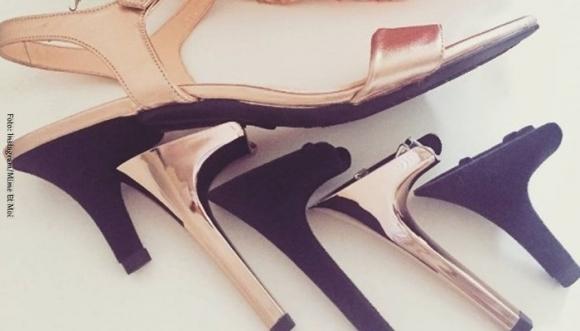 Zapatos con tacón intercambiable para emergencias
