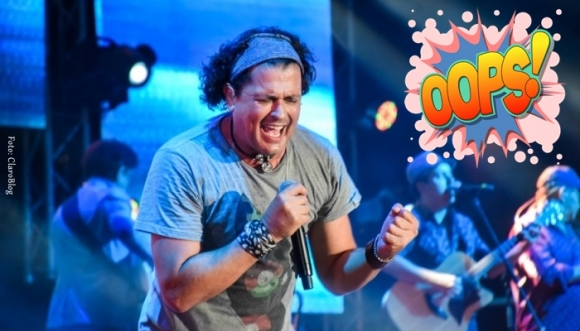 Carlos Vives se dio un totazo en pleno show