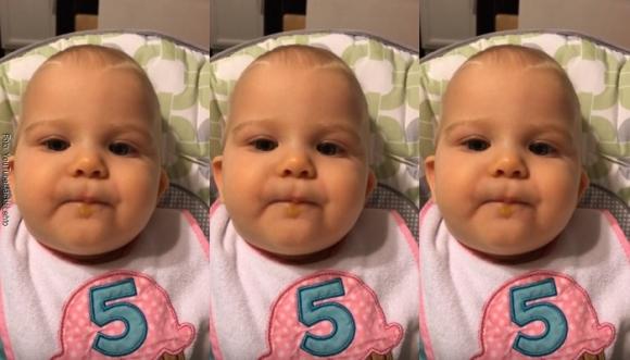 Esta bebé nos enseña lo que es la felicidad (Video)