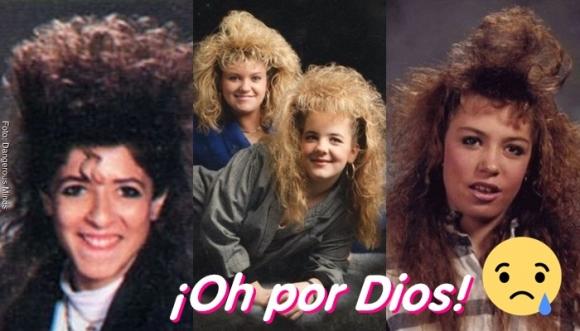 Peinados de los 80 que hoy nos dan risa (Fotos)