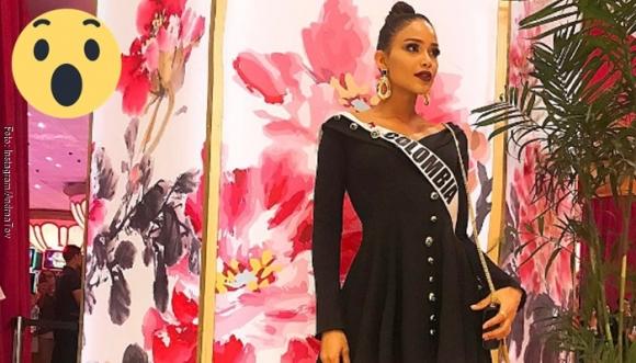 Con este vestido Miss Colombia casi muestra todo