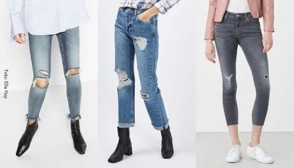 Jeans rotos, una tendencia que no pasa de moda