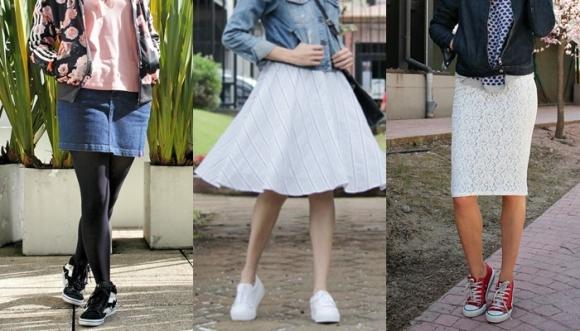 12 estilos para usar falda sin llevar tacones