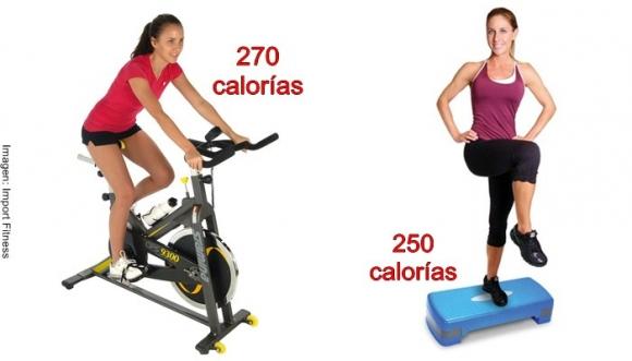 ¿Cuántas calorías quema cada ejercicio?