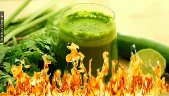 """¿Cómo funciona el jugo verde """"quema grasa""""?"""