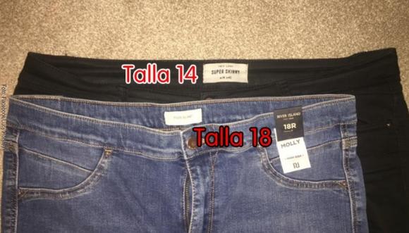 Las tallas de ropa varían según la tienda
