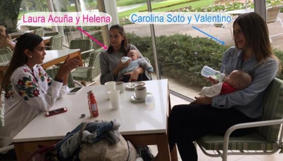 Bebés de Laura Acuña y Carolina Soto se reencuentran