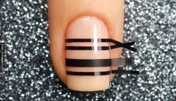 #Tutorial: Manicure con cintas en un 2x3