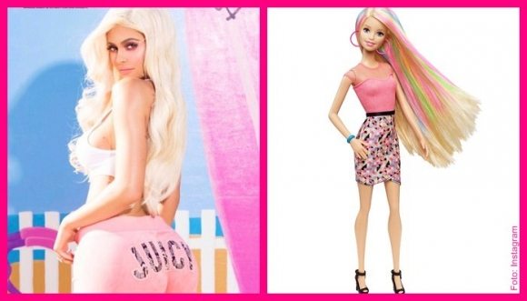 Kardashian se viste como Barbie y las redes estallan