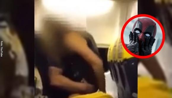 """Pareja es captada intentando tener un """"rapidín"""" en un avión"""